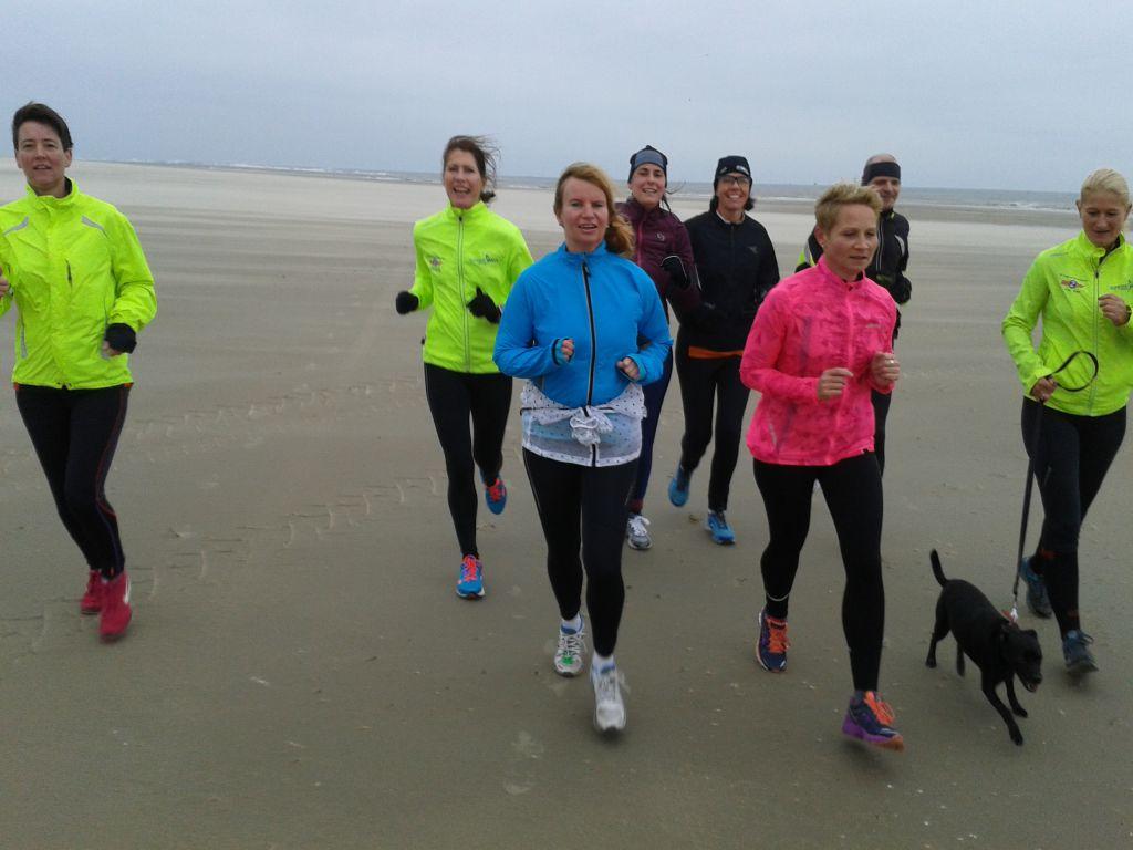 Duurloop op het strand